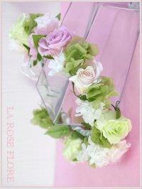 白xナチュラルグリーンの花冠