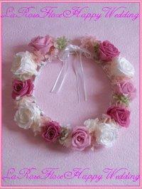白xピンクの花冠