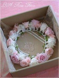 花冠用ケース(透明のふた付のリースBOX)
