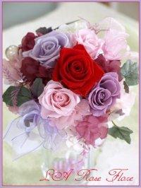 プレゼント用ブーケ 赤x紫