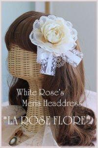 ホワイトローズのヘッドドレス