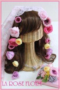 オールドローズのピンクxパープルのヘアピン