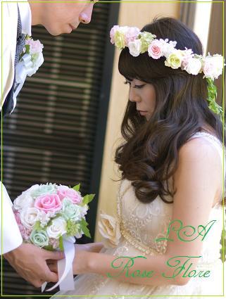画像1: グリーンガーランド付の花冠