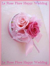 ハート型ハンドバックブーケ ピンク