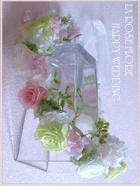白x淡いピンクx淡いグリーンの花冠