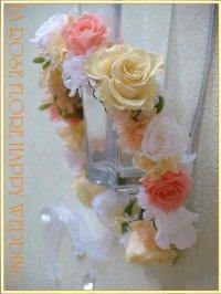 白xソフトイエローxジュリアオレンジの花冠
