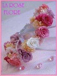 キャンディカラーの花冠