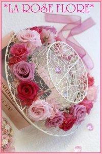 ピンクローズの花冠