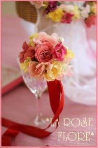 アーティフィシャルフラワーのお花のブレスレット