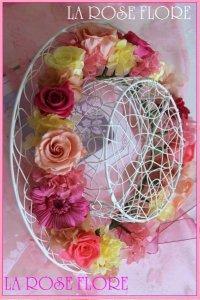 ピンクxイエローxピーチの花冠
