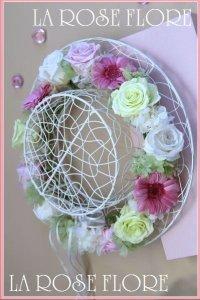 ガーベラ入りナチュラル花冠