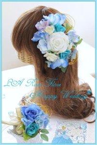 白x青のヘッドドレス