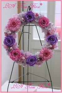 リース ピンクx紫