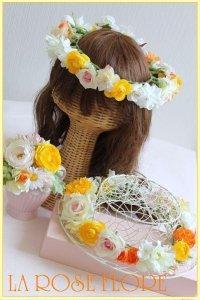 お子様用花冠ペアとコサージュのセット