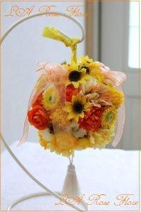 ビタミンカラーのボールブーケ