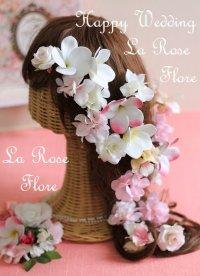 バラとプルメリアのヘアピン