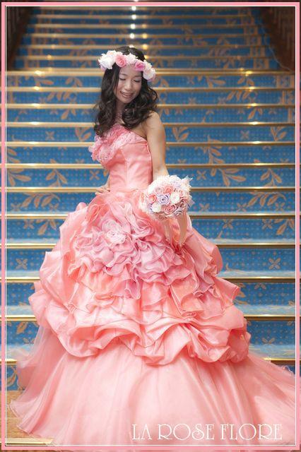 画像1: ピンクxパープルの花冠