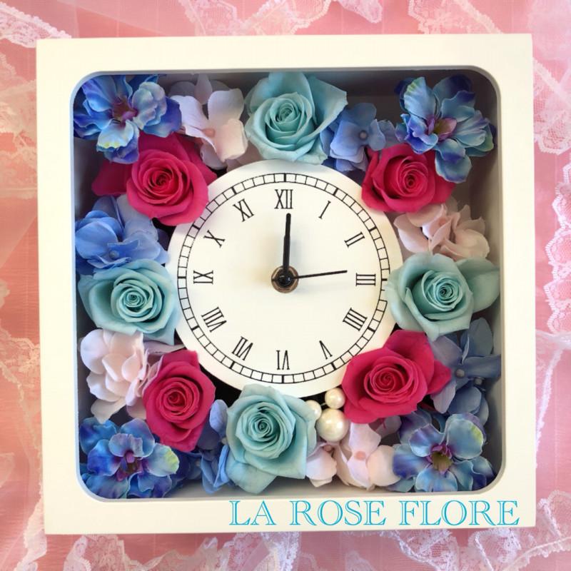 画像1: 花時計 ピンクx水色